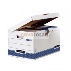 Maxi contenedor de archivos con tapa fija azul