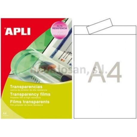 Caja Apli transparencias láser color 50 hojas