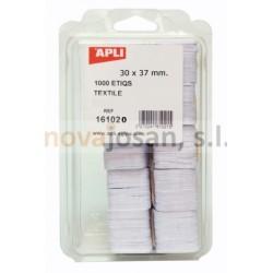 Etiquetas Apli Etiquetado TEXTIL 30X37mm. 1000 unidades.
