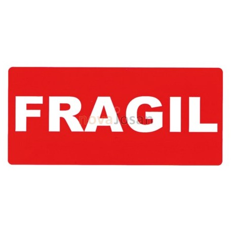Rollo etiquetas envío / Frágil.