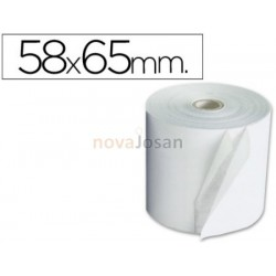 Rollo sumadora electro 58 mm ancho x 65 mm diametro.
