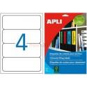 Etiquetas Adhesivas Apli Azul 190x61mm 20h