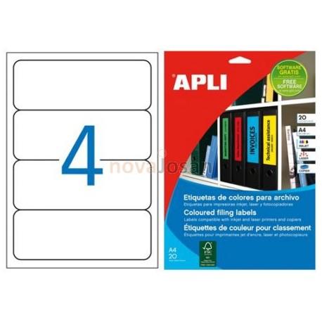 Etiquetas Adhesivas Apli Verde 190x61mm 20h