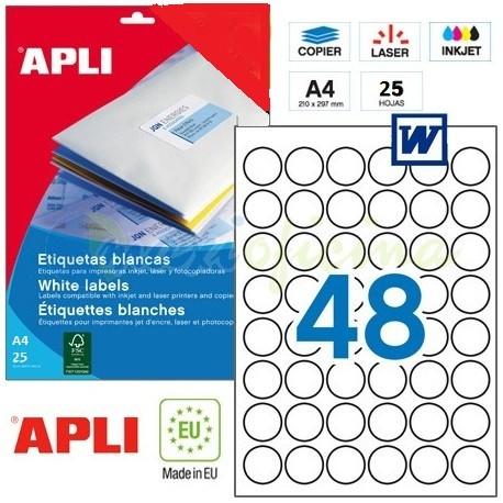 Etiquetas Adhesivas Apli 30mm. Ref.13882