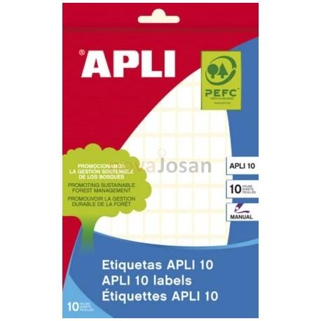 BOLSA 10 Hojas Etiquetas BLANCAS 8 x 12 mm