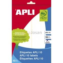 BOLSA 10 Hojas Etiquetas BLANCAS 50 x 149 mm