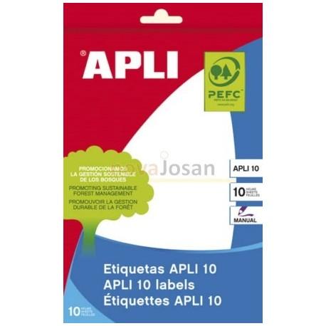 BOLSA 10 Hojas Etiquetas BLANCAS 81X110 mm