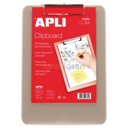 CLIPBOARD COLOR GRIS A4 PLASTICO