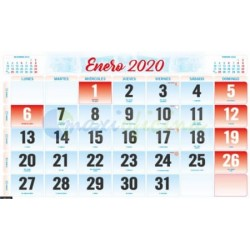 Faldillas para Calendarios 2020 235x148 mm. Pack 100u. Mensual S/N