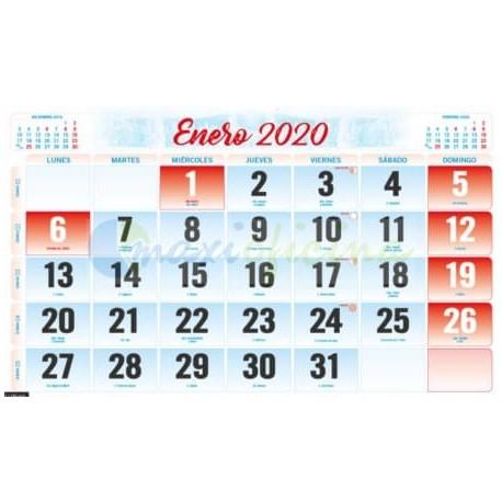 Faldillas para Calendarios 2020 Mensual