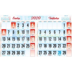Faldillas para Calendarios 2020 335x210 mm. Pack 100u. Bimensual S/N