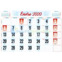 Faldillas para Calendarios 2020 435x310 mm. Pack 100u. Mensual C/NOTAS