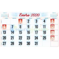 Faldillas para Calendarios 2020 335x210 mm. Pack 100u. Mensual C/notas
