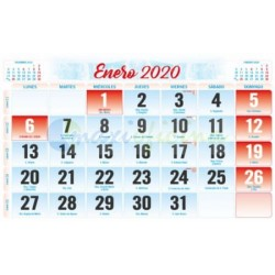 Faldillas para Calendarios 2020 150X100 mm. Pack 100u. Mensual S/N