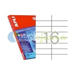 Etiquetas Adhesivas Extra Fuertes Apli 105x37mm 100h