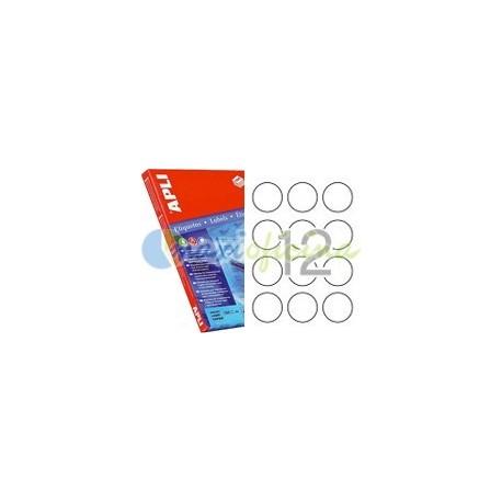 Etiqueta Adhesiva Promocional Circular 60mm Amarillo Fluorescente