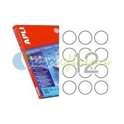 Etiqueta Adhesiva Promocional Circular 60mm Naranja Fluorescente