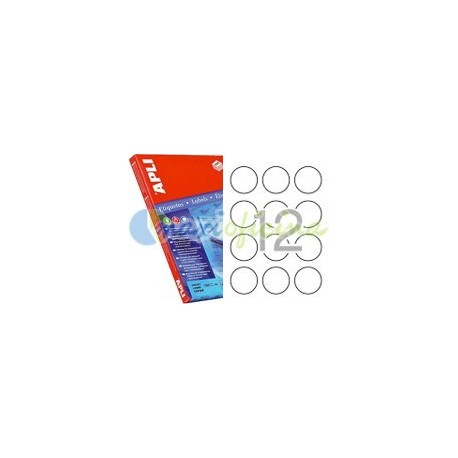 Etiqueta Adhesiva Promocional Circular 60mm Rojo Fluorescente