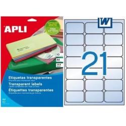 Etiquetas Adhesivas Transparentes Apli 63,5x38,1 10H